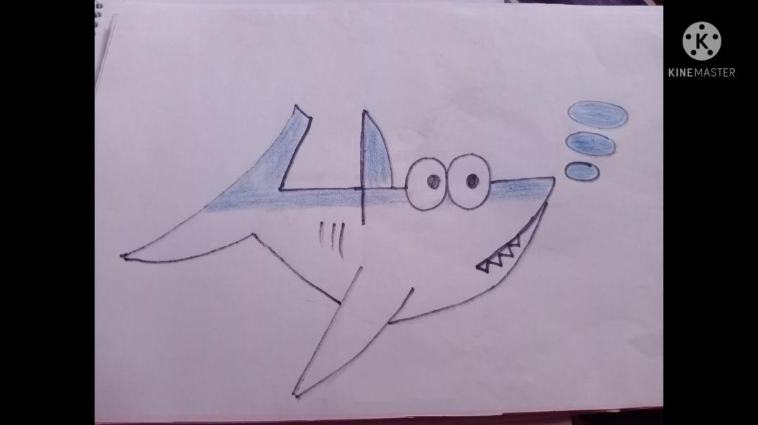 Sharks drawing/তিমি অংকন