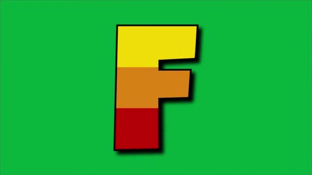 NoCopyRight Intro Logo _ Green Screen _ Alphabets Full ABC(480P)(360P)