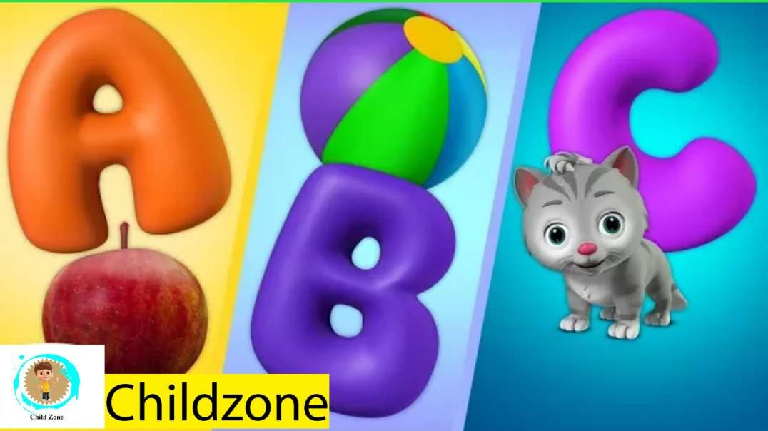 ABCD song with toy train / Alphabet song for kids / Educational channel for kids.